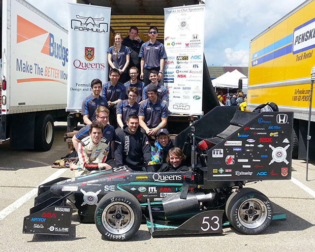 Kellett as a member of Queen's Formula SAE Design and Race Team