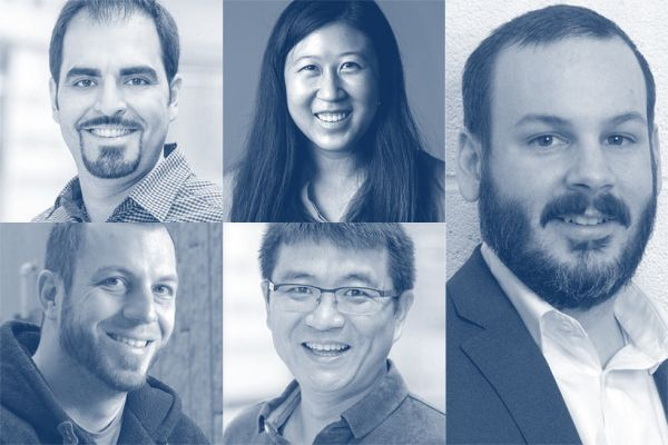 Clockwise from top left: Ali Etemad, Amy Wu, Joshua Woods, Xiaodan Zhu, and Matthew Robertson.