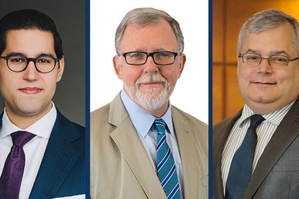 Aaron Bains, Malcolm Ruby, and Justice David Stratas.
