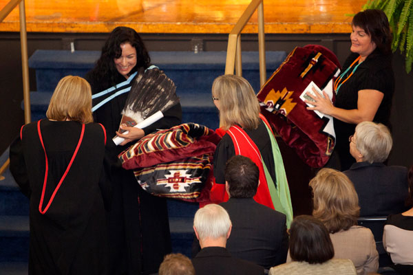 Aboriginal Student Blanket Ceremony at Convocation at Queen's University