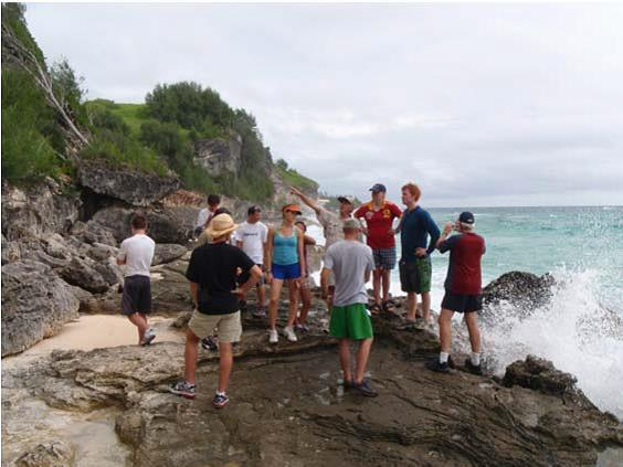 Field School in Bermuda for Geology at Queen's University