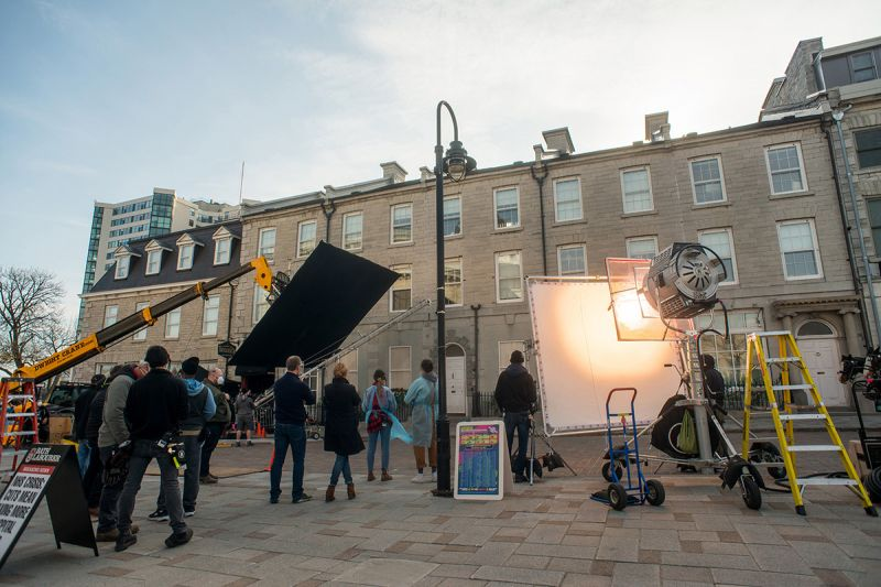 When the Netflix production Locke & Key recently filmed scenes in downtown Kingston it was an opportunity for students in the Queen's Film and Media program to gain some hands-on experience. (Courtesy Kingston Film Office)