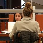 Students studying in Stauffer Library