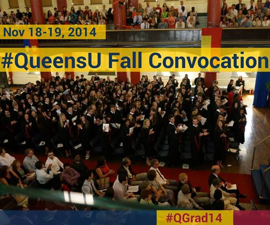 Fall 2014 convocation ceremony at Queen's