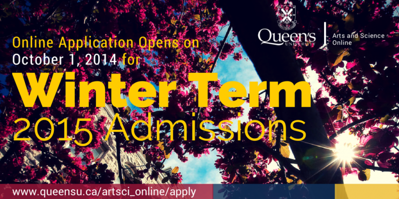 graphic banner announcing online application for Winter Term 2015 admission is now available.