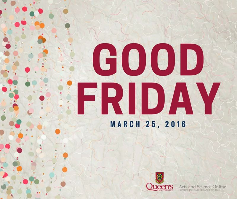 Good Friday, March 25 2016, e-poster