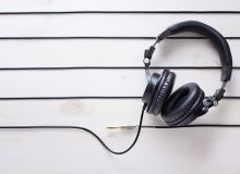 music chords and headphones