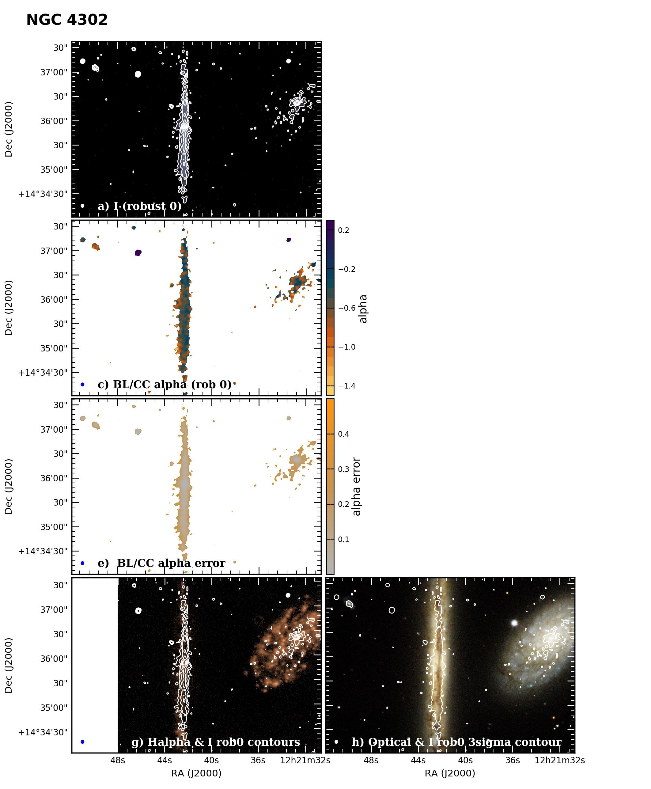 Panel image of NGC4302 from B configuration data release III (Irwin et al. 2019)