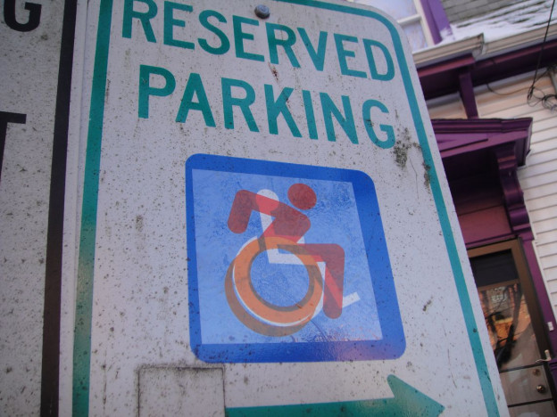 New accessible icon parking sign