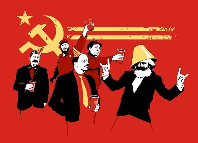 """""""I see you like Marxist politics and t-shirts, too!"""""""