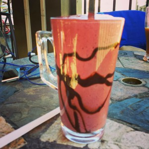 The chocolate raspberry smoothie from Sipps is crazy delicious.