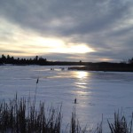 Sun setting over the creek at Little Cataraqui Creek Conservation area