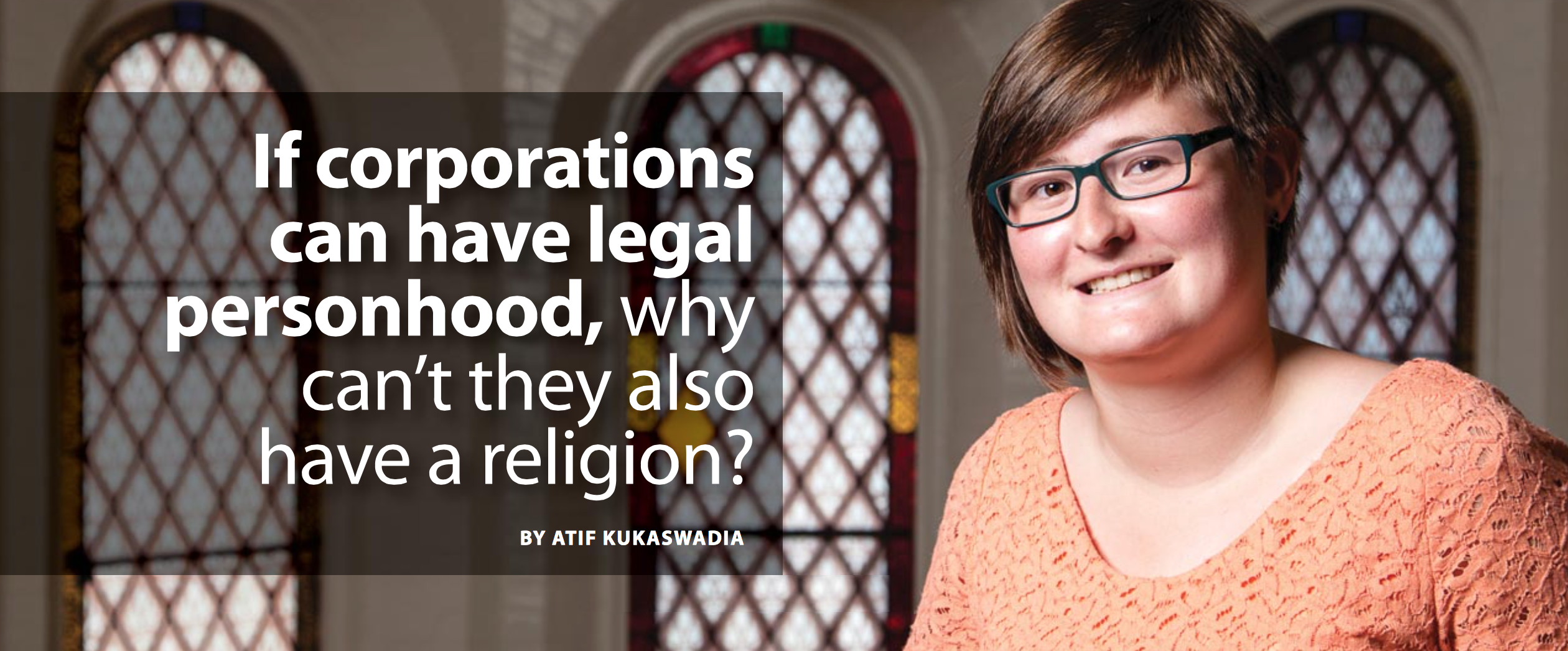 Michelle Rowland, also the recipient of Queen's Student Alumni Association Volunteer of Distinction Award, was recently profiled by former Gradifying writer Atif Kukaswadia in Queen's research magazine E-Affect on her summer research fellowship on religion and spirituality in the workplace (supervised by Dr. Richard Ascough, director of the School of Religion).