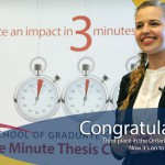 Anastasia Savrova -  3rd in Ontario 3MT last year! Photo credit: http://queensu.ca/3mt/