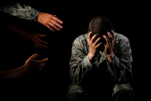 Family and friends can be important influences in helping someone get treatment for mental health issues. Reaching out and letting them know you are there to help them is the first step. (U.S. Air Force illustration by Airman 1st Class Devin N. Boyer/Released)
