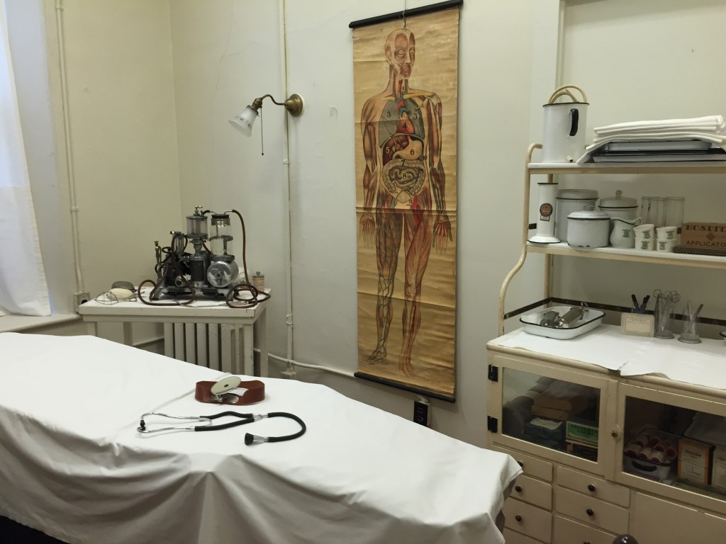 An exhibit at the Museum of Health Care