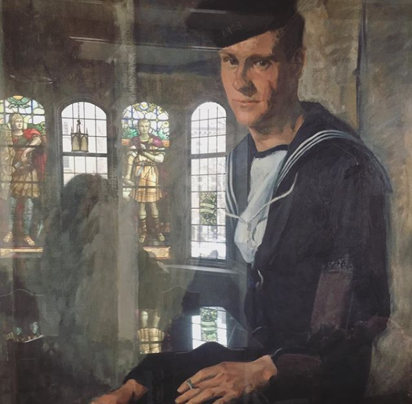 One of seven paintings by Marion Long (1882-1979) in the War Memorial Room of the JDUC