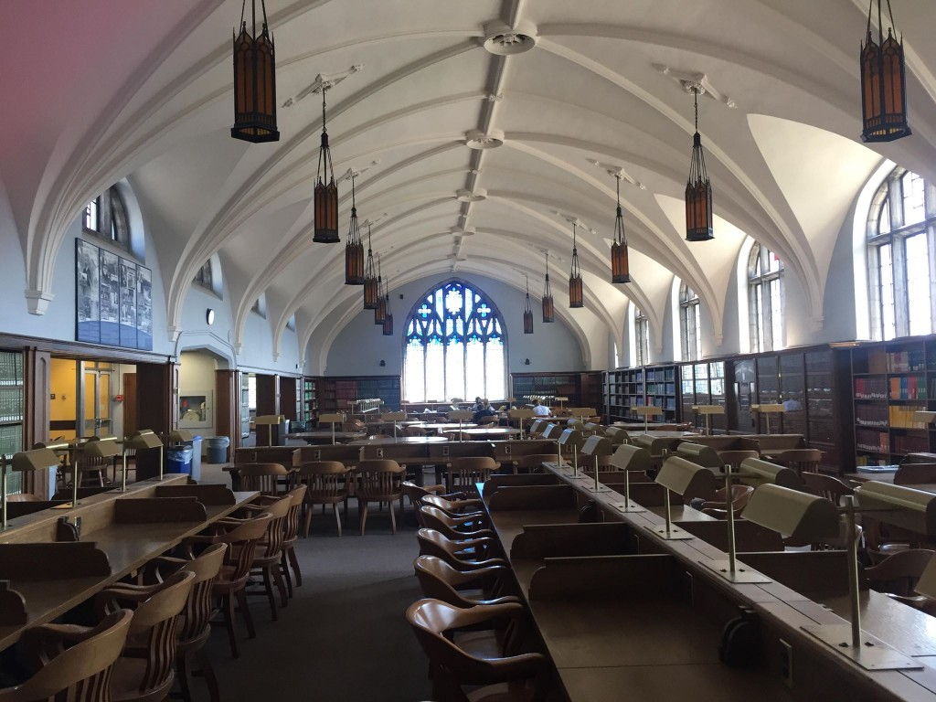 The Douglas Library Reading Room (aka the Harry Potter room)