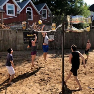 SGPS members enjoying the summer weather at a Beach Volleyball event this summer