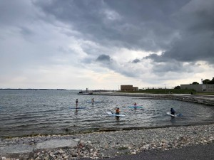 The newly renovated Breakwater Park on a rainy day this summer