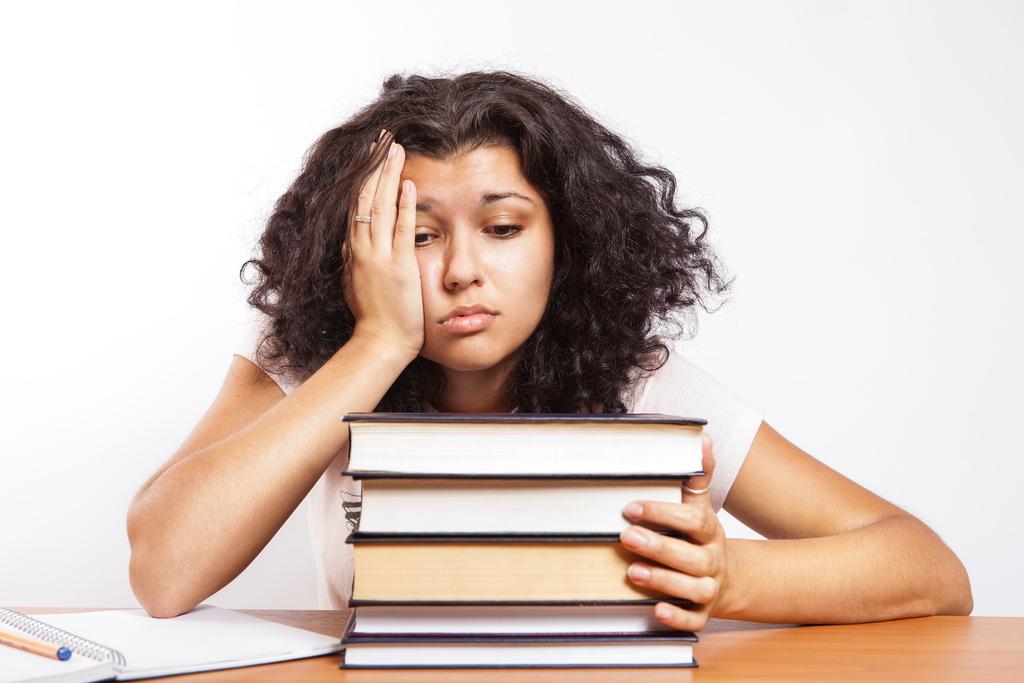 Student feeling overwhelmed