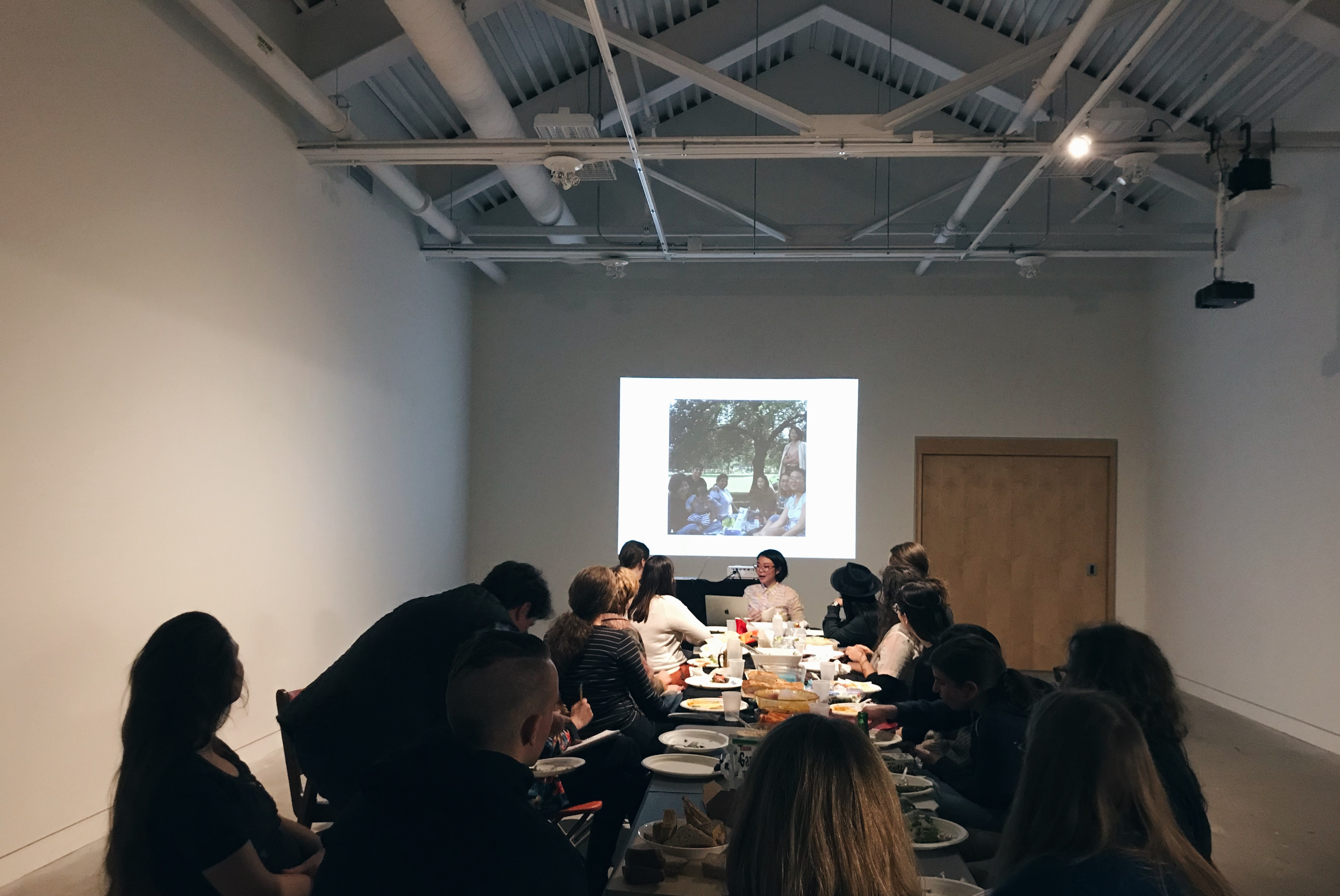 Amy Wong's talk, titled Coming together, making space, at Modern Fuel Artist-Run Centre.