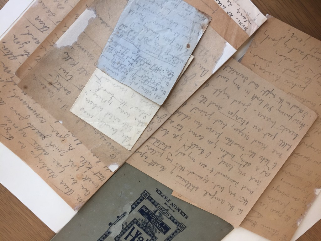 A photograph of some documents from a recent trip to the archives