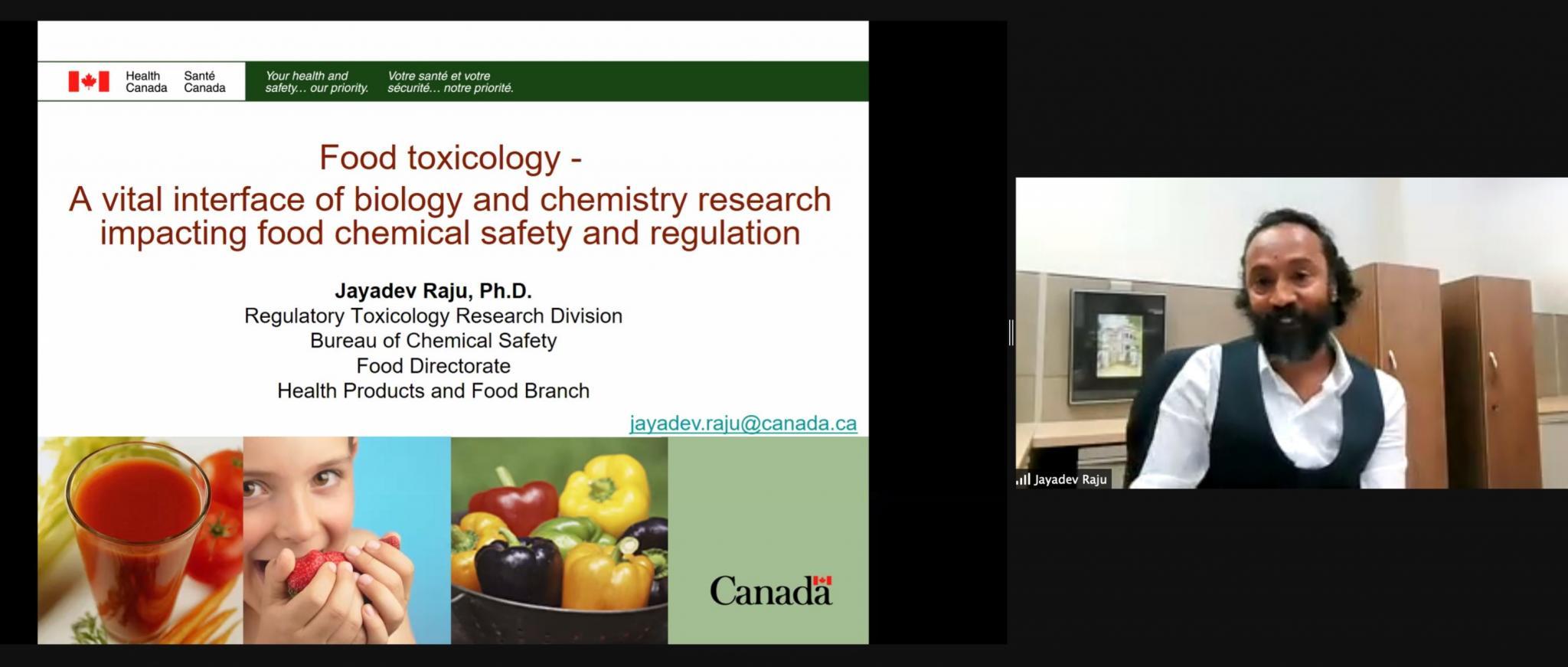 Keynote Speaker Dr. Jayadev Raju, Research Scientist, Health Canada