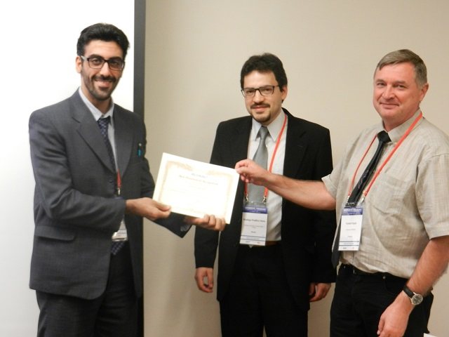 Behnam Koushki receives IECON2015 Best Presentation Award