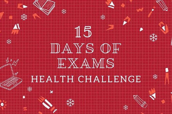 Graphic for 15 Days of Exams Health Challenge