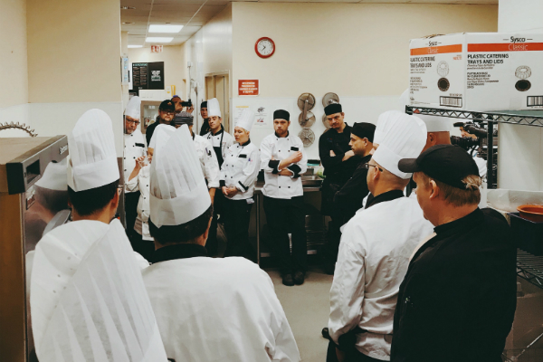Chef Wanda White trains Queen's campus culinary staff how to make plant-based recipes