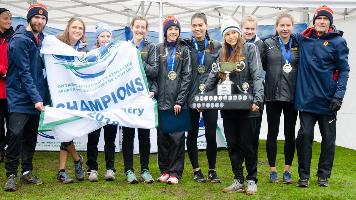 [Gaels Women's Cross Country team wins OUA title]