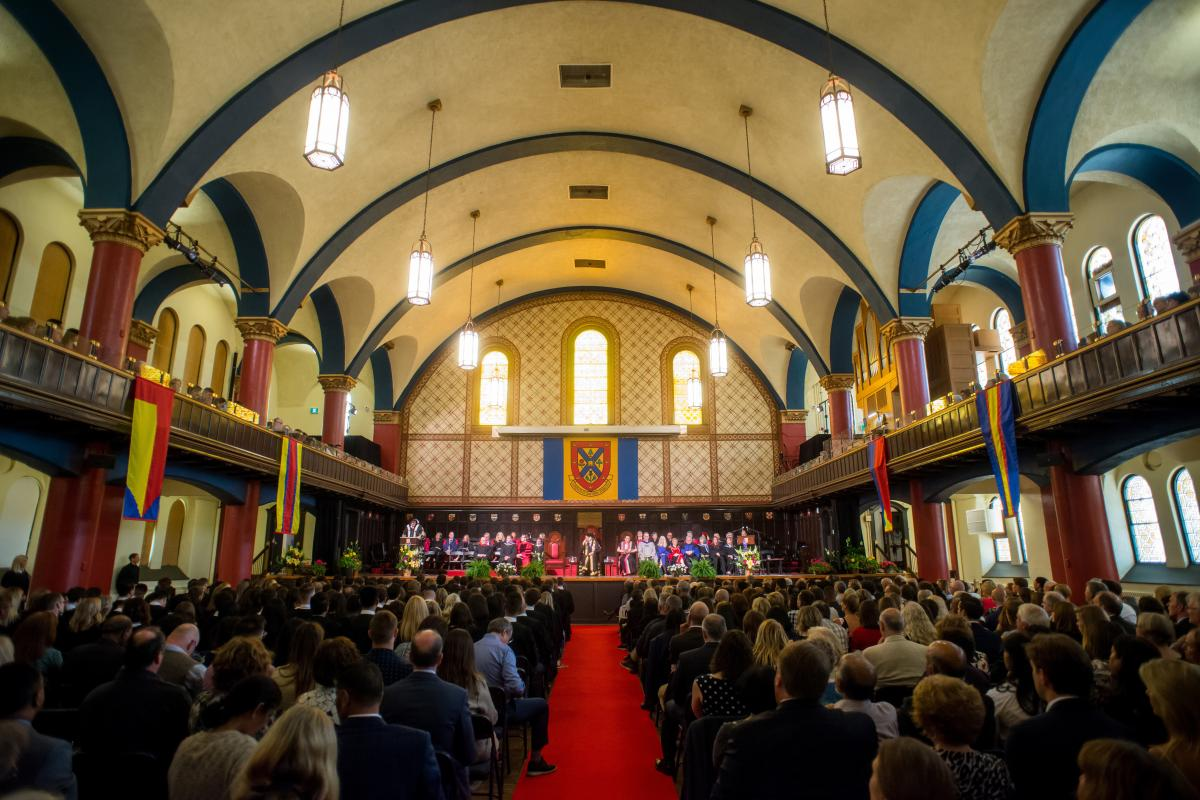2019 Convocation ceremony at Grant Hall
