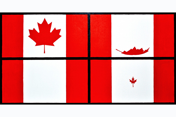 [Four Seasons of the Canadian Flag, painted by Maxwell Newhouse]