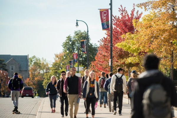 Photo of Queen's campus in fall.