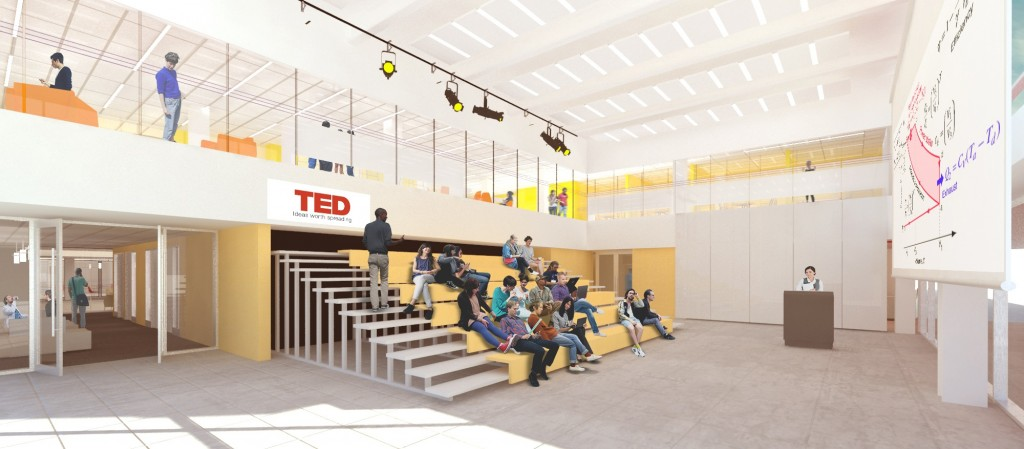 The Innovation Hub will feature an event space for programming and student-led conferences.