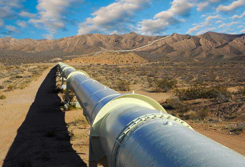 A pipeline is seen in the Midwest United States
