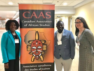 [Dr. Lydia Kapiriri, Dr. Martin Ayanore, and Dr. Colleen Davison pose together]