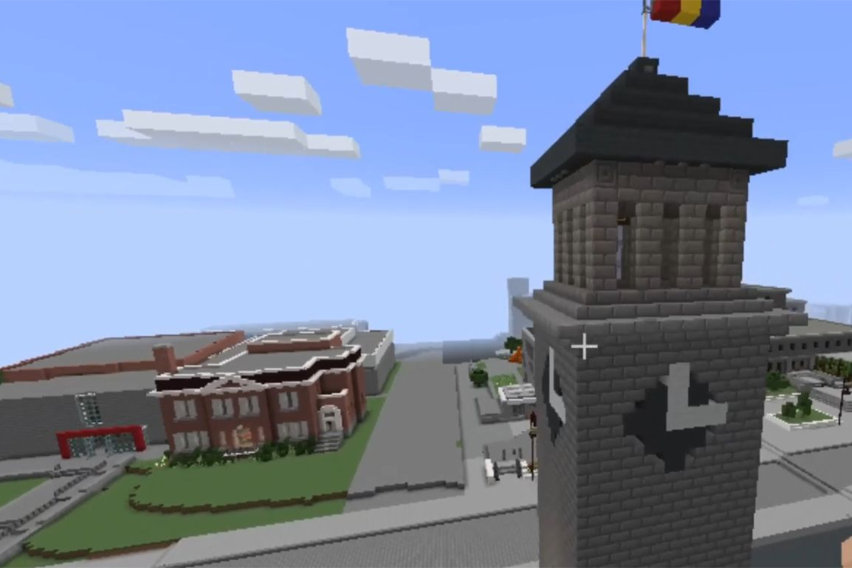 Students created a virtual Queen's University through Minecraft.