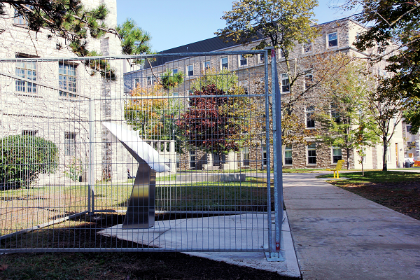 The Indigenous Plinth will be unveiled on McGibbon Walk on October 16. (University Communications)