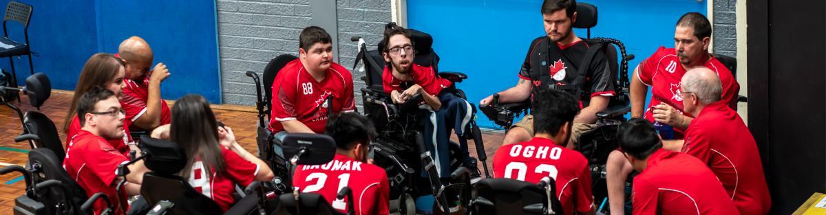 Members of Canada's PowerHockey Team. (Photo Courtesy PowerHockey Canada)