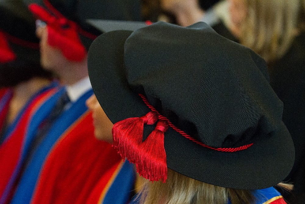 Photograph of PhD convocation robes