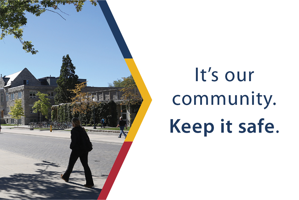 "Campaign sample imagery. ""It's our community. Keep it safe."""