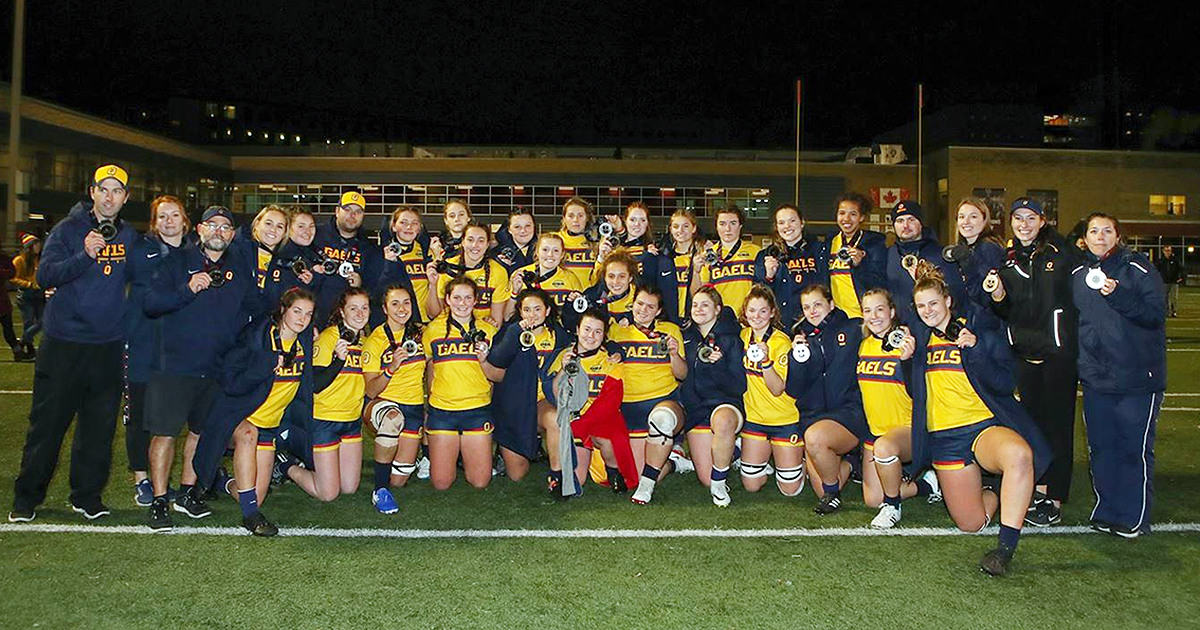 [Queen's Gaels win silver at women's rugby nationals]
