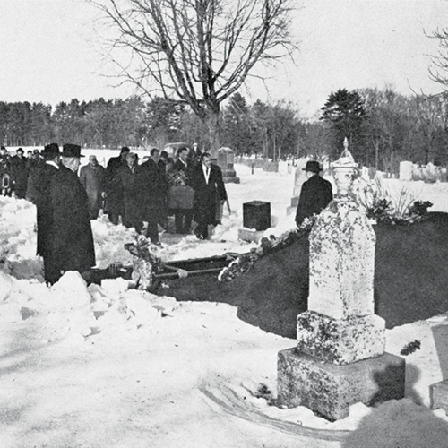 The legendary trainer, assistant coach, and Tricolour booster extraordinaire Alfie Pierce was laid to rest in Cataraqui Cemetery on February 13, 1951.