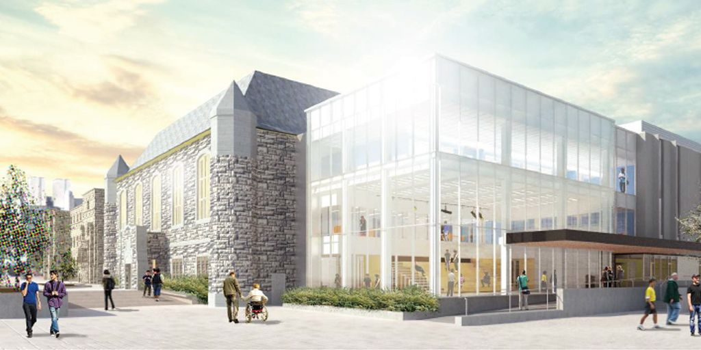 Architect's rendering of the Innovation and Wellness Centre