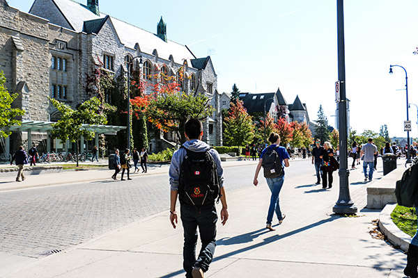[University Avenue at Queen's in the fall]
