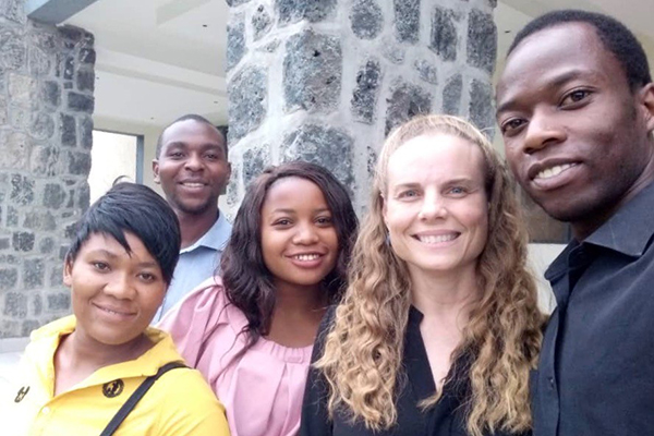 Dr. Bartels with research colleagues in the DRC