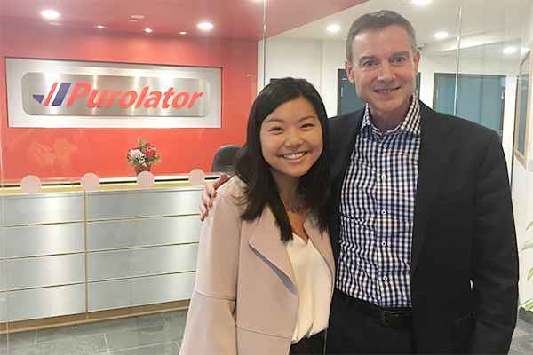Vanessa Lin and John Ferguson of Purolator