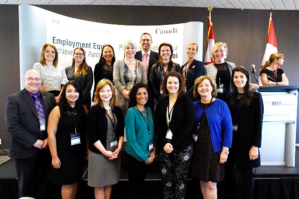 Award recipients at the federal government's Employment Equity Achievement Awards, including Heidi Penning from the Human Rights Office. (Photo via Employment and Social Development Canada Minister Patty Hajdu on Twitter)